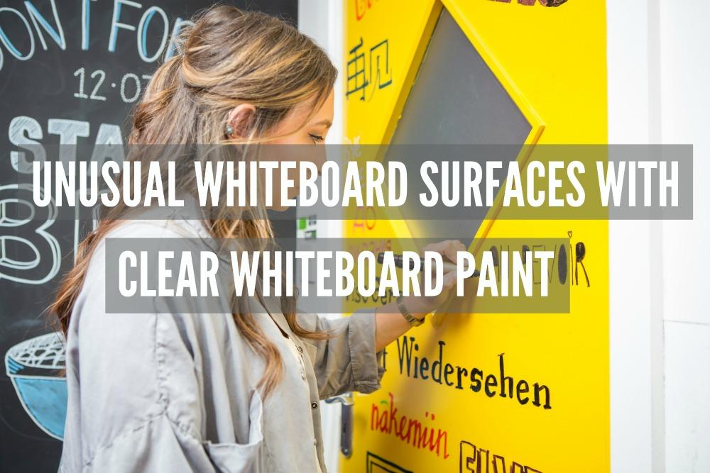 unusual whiteboard surfaces with clear whiteboard paint