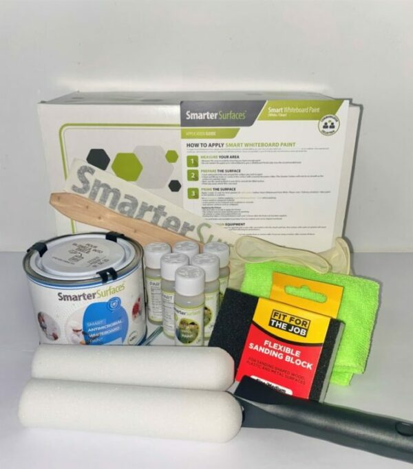 Smart Antimicrobial Whiteboard Paint Full Kit with box