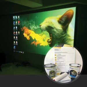Smart-Projector Paint Pro in use with kit on display
