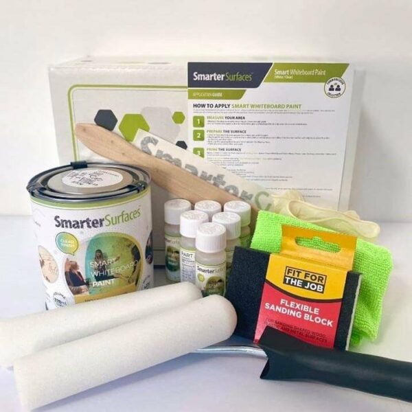 Smart Whiteboard Paint Clear Full Kit with box