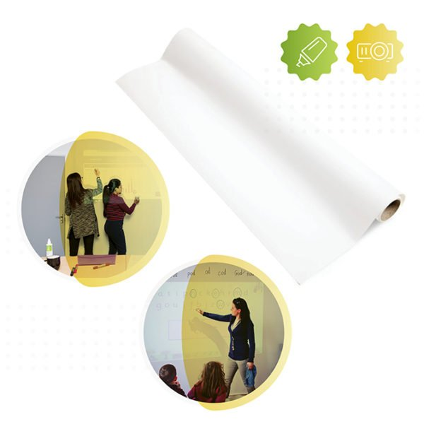 Smart whiteboard wallpaper Low Sheen Projector and Dry Erase | smartersurfaces.sg