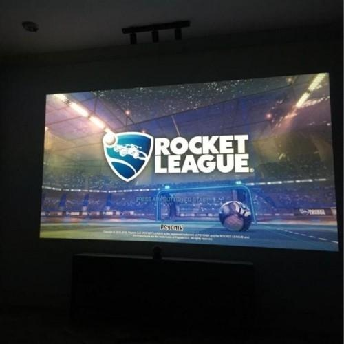 gaming setup with smart projector paint contrast | smartersurfaces.sg