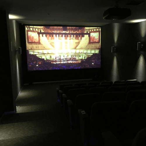 home theater created with smart projector paint contrast | smartersurfaces.sg