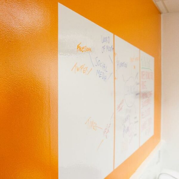 product 5 5 smart whiteboard sheets on wall   smartersurfaces.sg