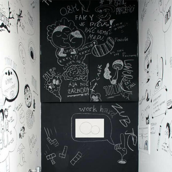 product c h chalkboard walls with writing on them using smart chalkboard paint | smartersurfaces.sg
