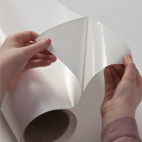 product c l close up of adhesive layer included in smart self adhesive whiteboard film 1   smartersurfaces.sg