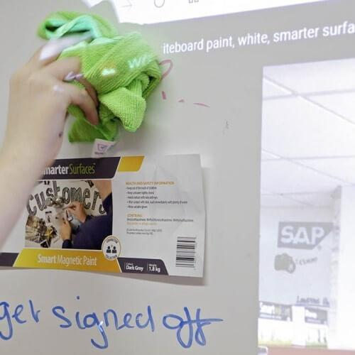 product e r erasing marker off smart magnetic whiteboard wallpaper low sheen using microfiber cloth | smartersurfaces.sg