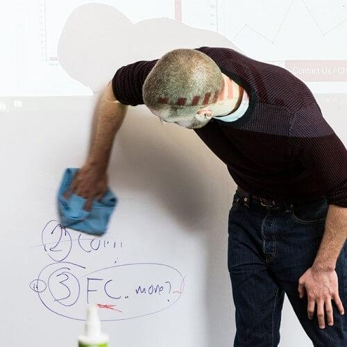 product e r erasing marker on smart whiteboard wallpaper low sheen with projected image | smartersurfaces.sg