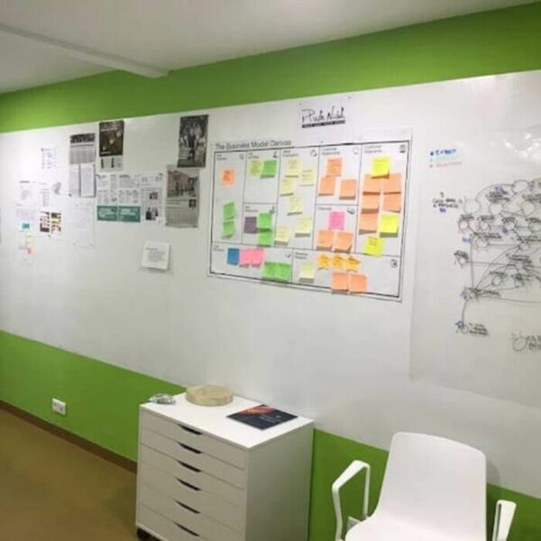 product m a magnetic wallpaper wall in office used for organisation | smartersurfaces.sg