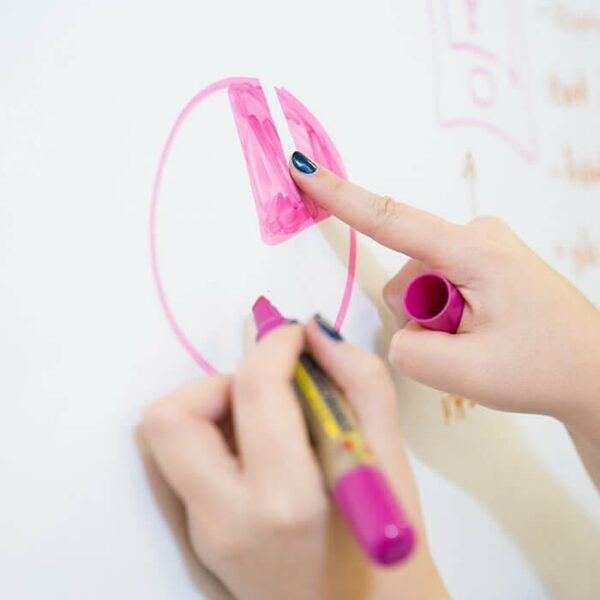 product p e person erasing marker on smart whiteboard wallpaper | smartersurfaces.sg