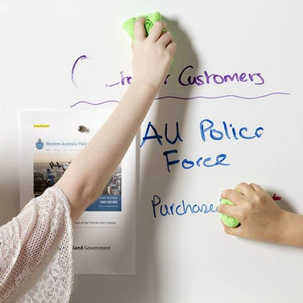 product s m smart magnetic dry erase wallpaper used to create customer wall. | smartersurfaces.sg