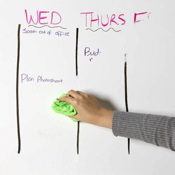 product w i wiping marker off of smart self adhesive dry erase film low sheen | smartersurfaces.sg