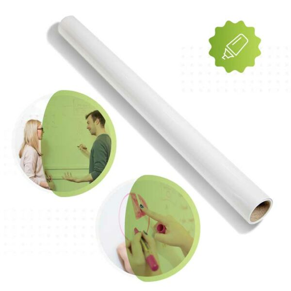 roll of smarter surfaces Smart whiteboard wallpaper white | smartersurfaces.sg