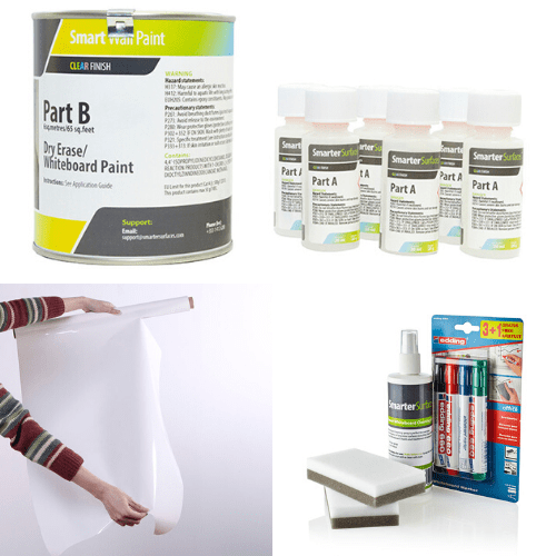 whiteboard paint clear bundle home office | smartersurfaces.sg